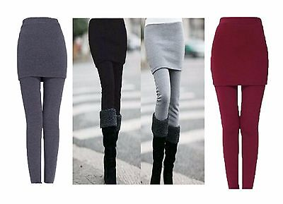 Women Ladies Pencil Seamless Stretchy FullLength Leggings With Skirt 8-26 • 9.99£