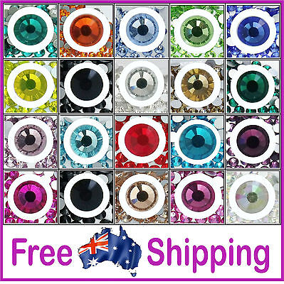 AU3.95 • Buy AAA Quality Glass Rhinestones HOT FIX ~ Value Priced By Gypsy Bling- Free Post