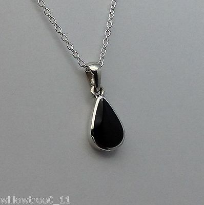 Genuine Whitby Jet And Sterling Silver Pendant Hand Made In Whitby 00038p • 34£