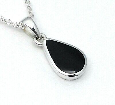 £34 • Buy Genuine Whitby Jet And Sterling Silver Pendant Handmade In Whitby 00038p