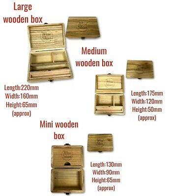 Cigarette Box Smoking Wooden Roll Gift Storage New Wooden Rolling Box UK • 14.99£