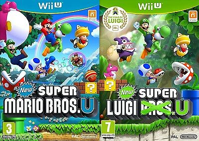 AU399.99 • Buy NEW SUPER MARIO BROS. U & SUPER LUIGI U *BRAND NEW + SEALED* Nintendo Wii U PAL