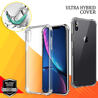 AU4.99 • Buy Shockproof Clear Case Cover For Apple IPhone SE 13 12 11 Pro XS Max X 7 8 6 Plus