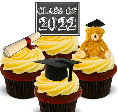 Class Of 2020 Edible Cupcake Toppers, Standup Fairy Cake Decorations Graduation  • 2.49£