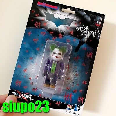 $69.99 • Buy Medicom 100% Bearbrick ~ DC Comics The Joker Be@rbrick Why So Serious Batman