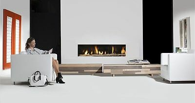 £2895 • Buy Senso Fireplaces Deluxe 12 Frameless Balanced Flue HE Edge Gas Fire NG Or LPG