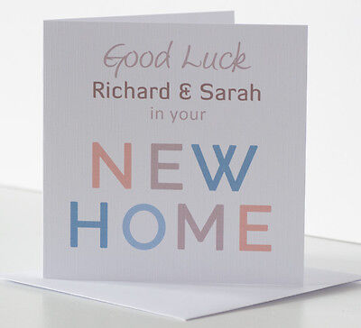 New Home Card Personalised Good Luck In Your New Home Housewarming House Moving  • 4.25£