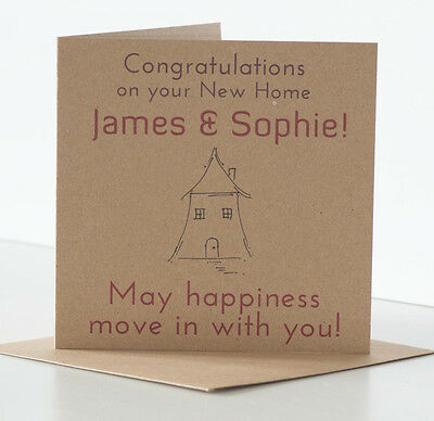 New Home Card Personalised New House Moving Warming Flat Friend Couple Family  • 4.25£