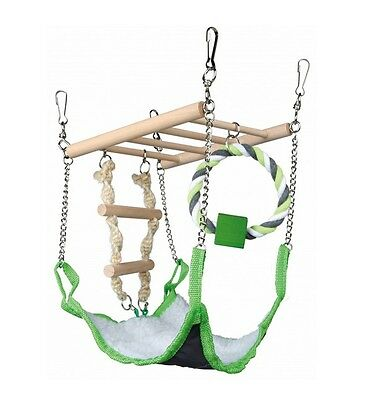 Hamster Toy SUSPENSION BRIDGE LADDER HAMMOCK ROPE TOY Activity Centre 17×22×15  • 8.99£