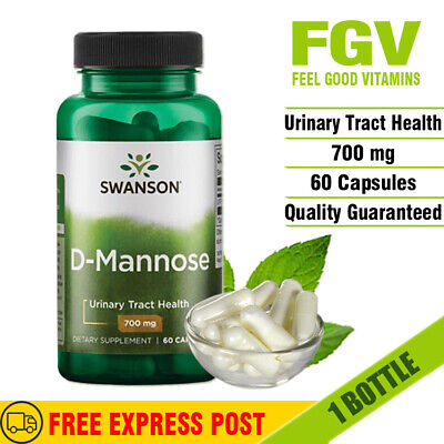 AU45.78 • Buy Swanson D-Mannose 700 Mg 60 Capsules URINARY TRACT & BLADDER HEALTH SUPPORT
