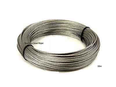 Best Quality Stainless Steel Wire Rope Cable, (Plastic Coated ,10M) • 3.29£