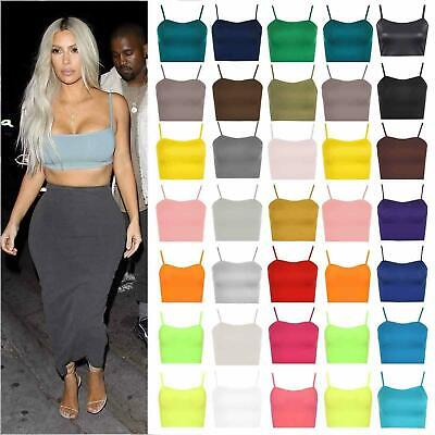 £4.99 • Buy Womens Ladies Sleeveless Strappy Vest Plain Camisole Boob Tube Bralet Crop Top