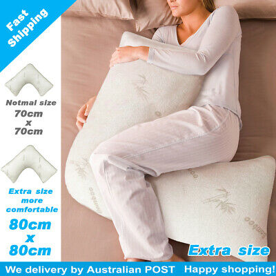 AU56.65 • Buy V/TRI SHAPE Shred Memory Foam Pillow With Bamboo Fabric Washable Pillow Case