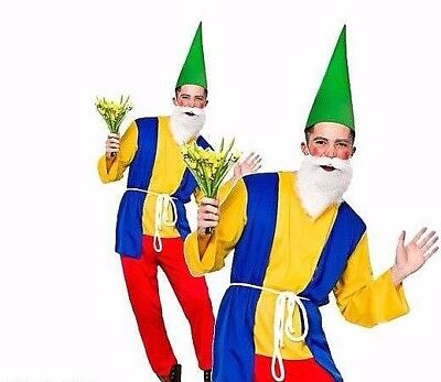 Adult Funny GNOME Mens Fancy Dress Costume Garden Figuerine Panto Stag Party • 14.70£