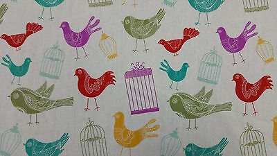 £5.95 • Buy Marson Bird Cage Designer Curtains Blinds Craft Upholstery Fabric