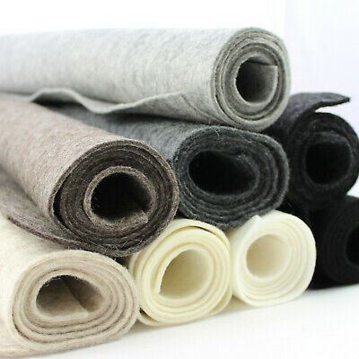2mm Thick 100% Wool Pressed Felt Per Metre 90cm Wide & Small Sheets • 2.95£