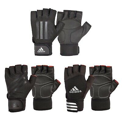 £13.99 • Buy Adidas Weight Lifting Gloves Padded Gym Workout Fitness Exercise Wrist Strap