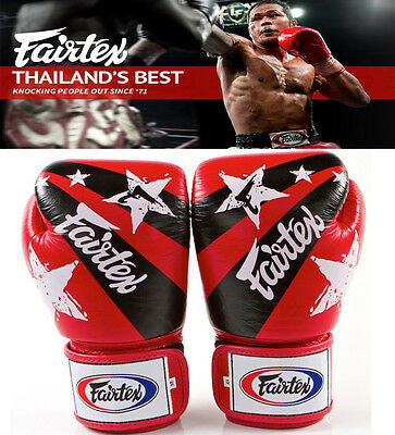 $109.89 • Buy Authentic Fairtex Nations Print Muay Thai Sparring Gloves RED, MMA , Boxing
