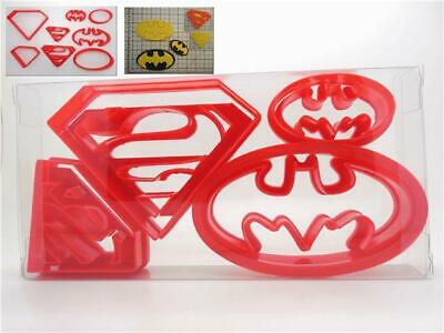 Super Hero Set Of 4 Superman / Batman Cookie Cutter, Fondant Cutter (8pcs) • 3.99£