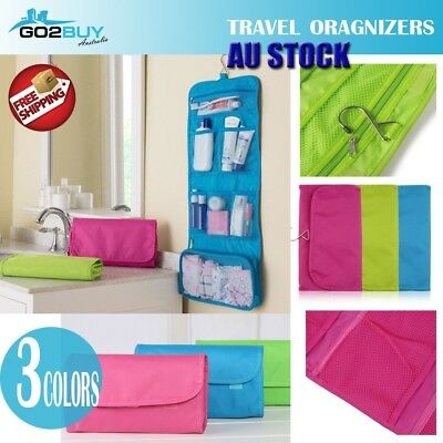 AU6.95 • Buy Foldable Large Travel Cosmetic Makeup Purse Wash Organiser Storage Hanging Bag