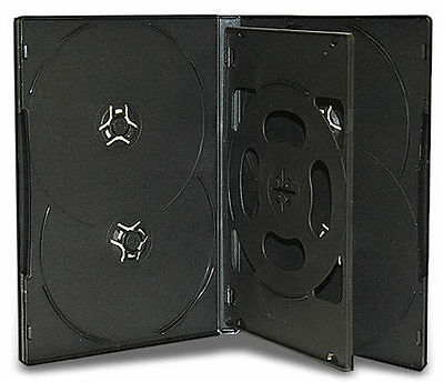 AU868.77 • Buy 5x Hold 6 Black DVD CD Cover Cases 14mm - Holds 6 Discs