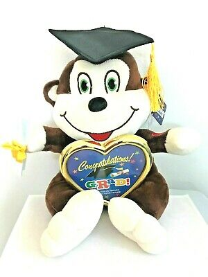 $ CDN19.34 • Buy Graduation Monkey Plush Stuffed Animal With Cap & Diploma 10'' White & BROWN