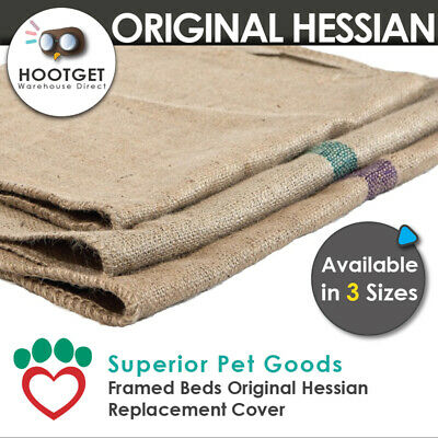 AU18.90 • Buy [3 Sizes] Superior Pet Goods -Jute Hessian Dog Framed Bed Mat Replacement Cover