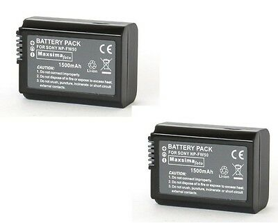 NP-FW50 FW50 Twin Pack Compatible Camera Camcorder Battery Pack 1500mAh For Sony • 22.99£