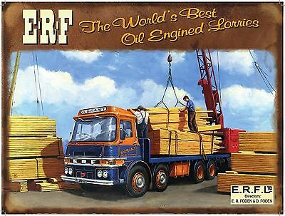 £11.48 • Buy ERF Truck, Lorry, Wagon, Classic/Vintage, Picture, Plaque, Large Metal Tin Sign