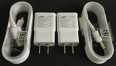 $ CDN13.17 • Buy 2x OEM Samsung 2 Amp Wall Charger + 2x 5ft Micro USB Cable For Samsung Galaxy