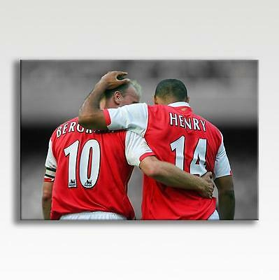 £29.99 • Buy THIERRY HENRY & DENNIS BERGKAMP ARSENAL CANVAS Poster Wall Art 30 X20  CANVAS
