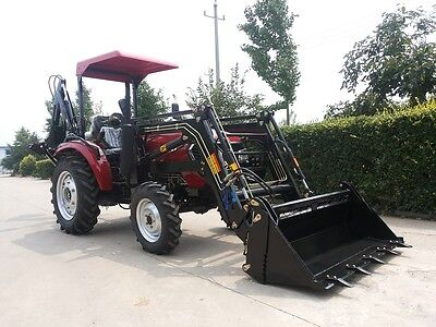 AU21000 • Buy AK404 New 40hp Tractor With Front End Loader And AKLW6 Backhoe
