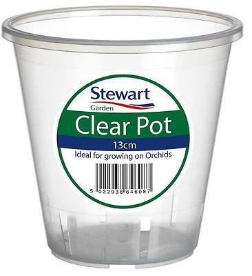 ORCHID POT Clear Pot 13cm Ideal For Growing On Orchids See Through Pot Tub Etc • 4.88£
