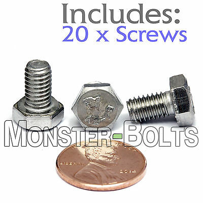 $5.59 • Buy M6-1.0 X 10mm - Qty 20 - DIN 933 HEX CAP BOLT / Screw - Stainless Steel A2-70