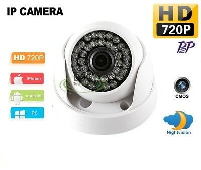HD 720P 1.0MP IP Network Camera 36 IR LED Security Dome Camera Nightvision ONVIF • 21.43£