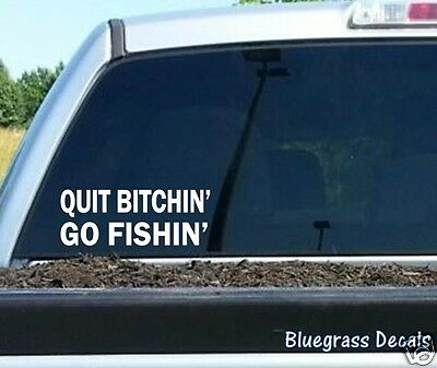 $3.99 • Buy Funny Fishing Decal Sticker For Car Truck SUV Van Fish Boat Rod Reel Lure A1136