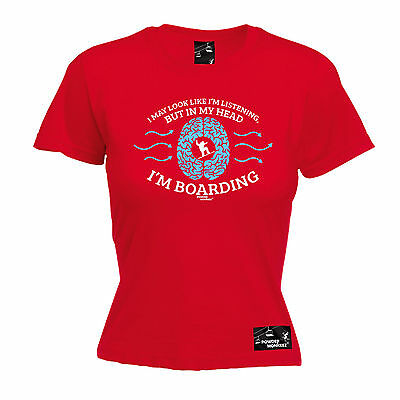 AU18.64 • Buy Listening In My Head Im Boarding WOMENS T-SHIRT Snowboard Funny Mothers Day Gift