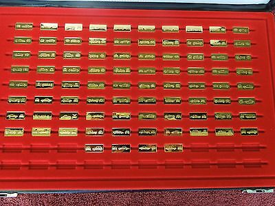 Franklin Mint  The World's Great Performance Cars  84 Of 100 Silver Gold Ingots  • 232.80£