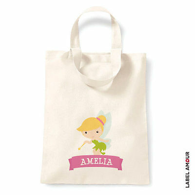£4.50 • Buy PERSONALISED Tinkerbell Birthday Party Cotton Tote Bag - Name Girl Gift School