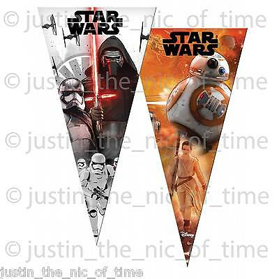£3.07 • Buy 6 STAR WARS Boys Sweet Cones Party Cello Bags Kids Childrens Birthday Favours