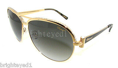 £180.36 • Buy Authentic CHOPARD Gold Aviator Sunglasses SCH 996S - 301 *NEW*