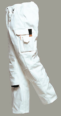 £20.88 • Buy New PORTWEST Mens Work Painters Protect Cotton Multi Pocket Trousers White S-XXL