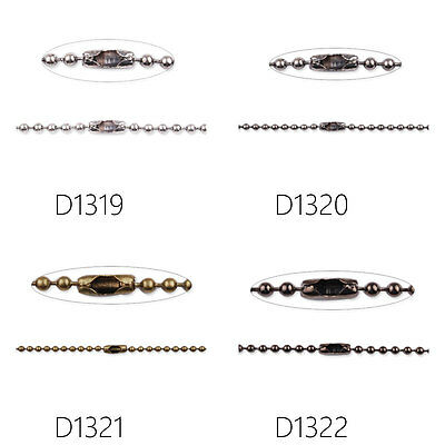 """20Pcs 24""""Finished Chain Brass Ball Chain Necklaces Jewelry Findings • 11.24£"""