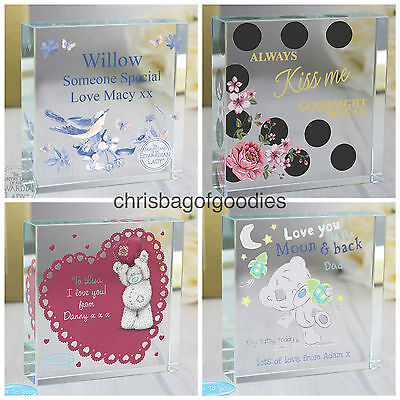 PERSONALISED CRYSTAL I LOVE YOU Romantic Gifts For HIM HER My Girlfriend Wife  • 21.95£