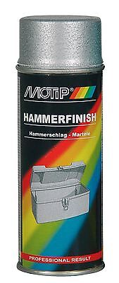 £17.99 • Buy 2 X NEW MOTIP SILVER HAMMER FINISH LACQUER SPRAY PAINT 400ML M04013