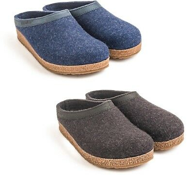 Haflinger Torben Graphit Grey Blue Slippers Wool Felt Men Women Man Woman • 68.72£