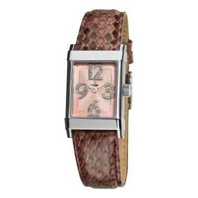 Eterna 1935 Women's 8790.41.84.1157 Pink Diamond Dial Leather Watch • 420.43£