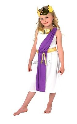 £12.45 • Buy Child ROMAN GIRL Fancy Dress Costume Ancient Rome Toga World Book Week Ages 3-10