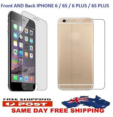 AU1.96 • Buy GENUINE Front And Back Tempered Glass Screen For IPhone 6s 6 Plus 6s Plus AUS!