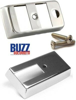 Vespa PX Light And Indicator Switch Covers With Screws In Stainless Steel  • 24.15£